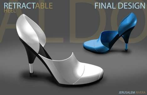 Retractable high heel