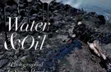 Shocking Oil Spill Visuals - The Vogue Italia and Steven Meisel 'Water & Oil' Spread is Disturbing