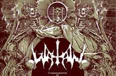 Human Blood Posters - Watain and Metastazis Team Up to Create a Bloody Mess