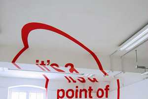 The 'Anamorphic Typography' Installation by Joseph Egan and Hunter Thomson