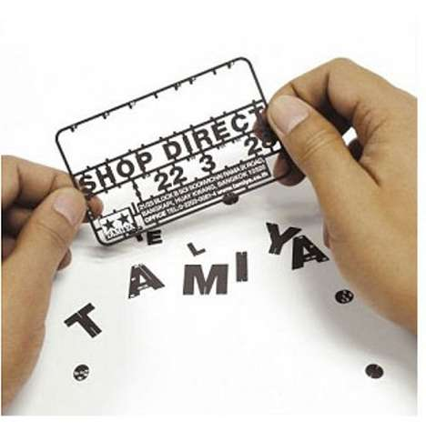 Model Airplane Typography - Tamiya's Business Card Model Kit Can Be Made into Model Vehicles