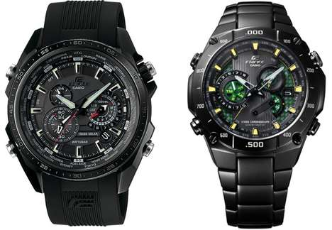 Slick Business Timepieces - The Casio Edifice Collection is Branded as a Less Expensive Rolex
