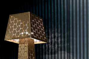 The 'Lace Lampshade Lamp' by Fiorentino Features Lace From Top to Bottom