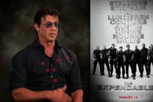 'The Expendables' Promotional YouTube Interview Shows Sly Kicking But