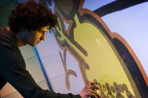 The YrWall Digital Graffiti Wall is for Amateur Street Artists