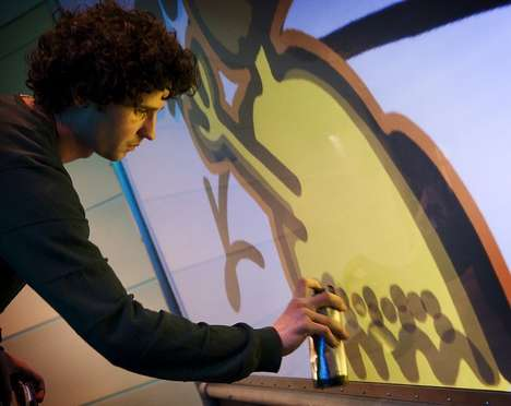 Virtual Street Art Simulators - The YrWall Digital Graffiti Wall is for Amateur Street Artists