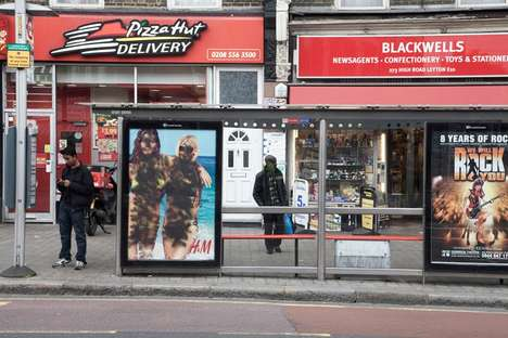 Guerrilla Censorship - H&M Summer Bus Stop Campaign is Defaced