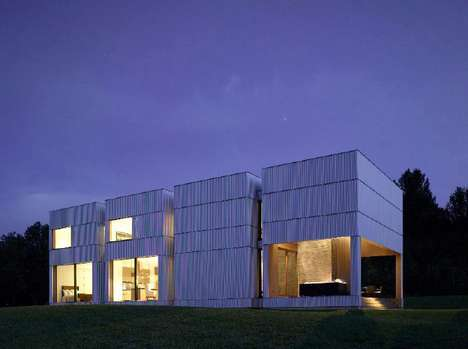 Corrugated Grid Homes - The Tsai Residence is a Boxy Design by HHF Architects and Ai Weiwei