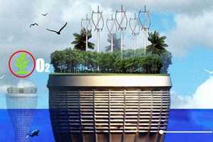 HO2 Scraper Harvests Renewable Energy to Grow Food