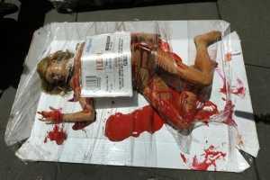 PETA Reprises Their 'Meat is Murder' Shockvertising Stunt in Times Squar