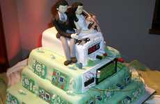 Geeky Baked Confections - This Tech Gear Wedding Cake is Nerdtastic