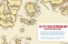 Internet Media Maps - The 2010 Social Network World Map Provides an Outlook on Social Media