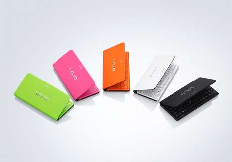 Mini Neon Laptops - The Sony Vaio P Introduces New Colors