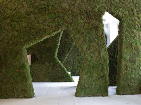 Mossy Maze Installations - 'Moss Your City' Promotes Guerilla Gardens in London, England
