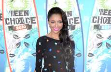 Bedazzled Black Ensembles - Kat Graham's Teen Choice Awards Outfit was Bejeweled to Perfection