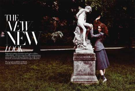 Dainty Feminine Editorials - The Naty Chabanenko Harper's Bazaar UK Spread