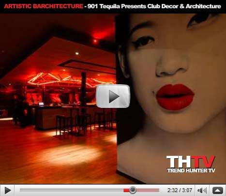 Artistic Barchitecture - 901 Tequila Presents Artistic Emphasis on Club Decor & Architecture