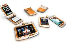 Splintered Cellphones - The Sony Ericsson FH Mobile Phone Splits in Two for Double the Fun