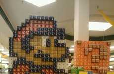The Super Mario Product Display is Made Out of Soda Cans