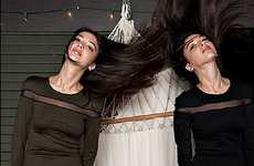 Hair-Swinging Twin Lookbooks