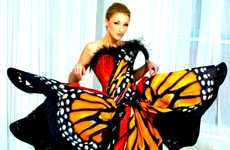 Flight of Fancy Couture - The Luly Yang Butterfly Dress from Seattle is Lifelike