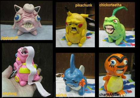 ugly pokemon sculptures