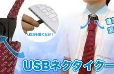 Nerdy Tech Ties - The USB Necktie Keeps You Cool Even in the Hottest Climate