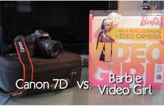 The 'Canon 7D SLR Camera Vs.Barbie Video Girl' Spoof