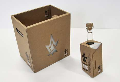 Packaging for Three Crowns Vodka