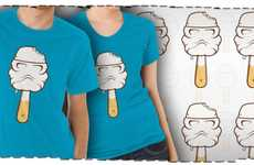 Melting Nerdy Tees - The Vanilla 'Stormtroopsicle' T-Shirt is Fitting for Summer