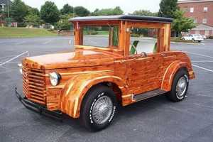 The Unique Wooden Car is a Fully Functional Masterpiece