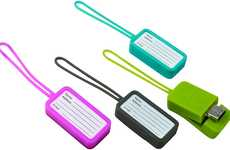 Traveling Info Gadgets - The Luggage Tag Flash Drive Offers Additional Storage