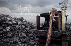Garbage Dump Photography - The Amica 'Odds and Ends (Tribute to McQueen)' Shoot is Grungy