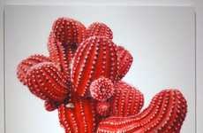 Hyperrealistic Cactus Paintings