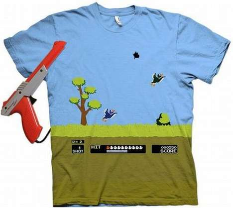 Sporty Gamer Tees - The Duck Hunt T-Shirt is an 8-Bit Fashion Statement