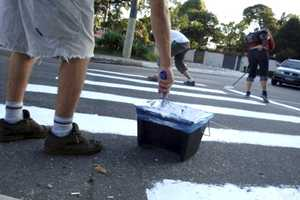 Brazilian Activists Paint Guerrilla Pedestrian Lines for Safety