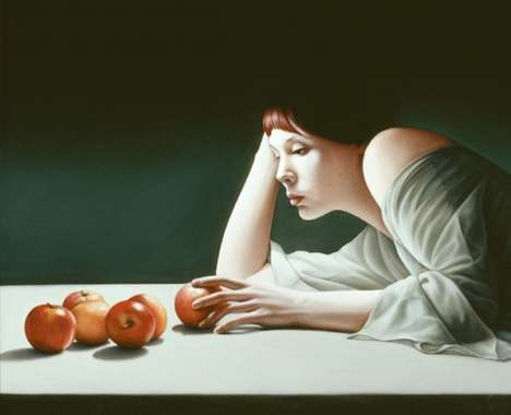 Feminine Solitude Portraiture - Mary Jane Ansell Paints Lonely Women in Solitary Scenes