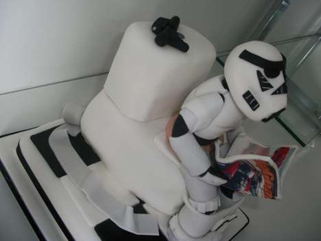 Stormtrooper On The Toilet Cake