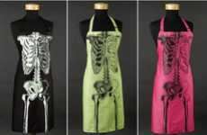 Anatomical Aprons - These Skeleton Aprons are a Macabre Way to Cook