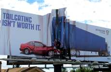 Truck Collision PSAs - Colorado State Patrol Billboard Drives Home 'Don't Tailgate' Message