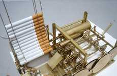 Steampunked Cigarette Devices - The Smoking Machine Perpetually Smokes for You