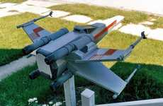 Sci-Fi Fighter Mailboxes - The X-Wing Mailbox Brings Star Wars to Suburbia