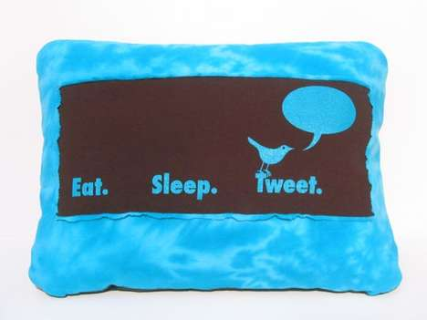 Social Media Cushions - The Twitter Pillow Shows Your Love for Tweeting While Sitting