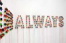 Ring Pop Walls - Julia Chiang Creates a Message Out of Candy