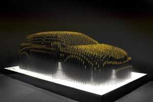 The CT Umbra is a Lexus Sculpture of the 'Dark Side of Green'