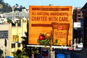 The Lay's Kettle Chips Billboard in California was Personally Crafted