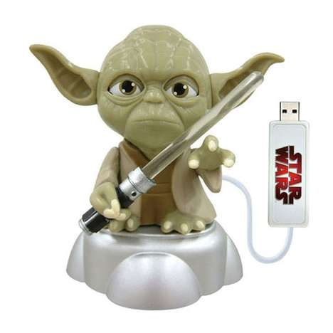 Yoda with Illuminated Light Saber USB Memory