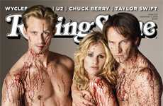 Bloody Magazine Covers - The Cast of True Blood on Rolling Stone is in the Buff