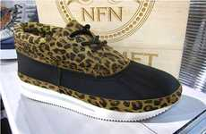 Leopard-Print Platform Shoes