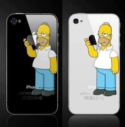 Homer Simpson iPhone sticker